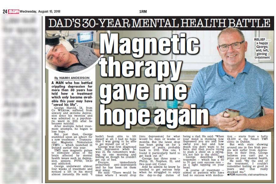 Irish Sun TMS Anxiety Depression Case Study